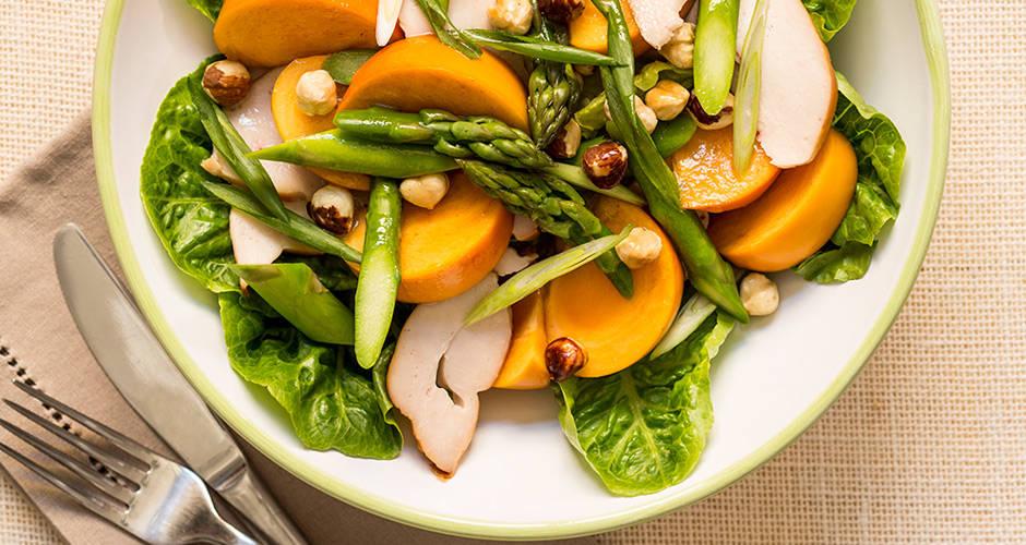 Persimmon-Smoked-Chicken-Hazelnut-Salad