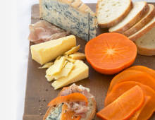 Fresh Persimmon Cheese Plate