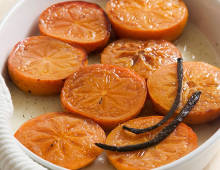 Honey Baked Persimmons