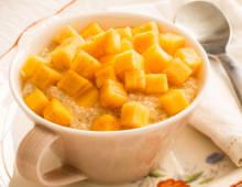 Persimmon, Sago & Coconut Pudding