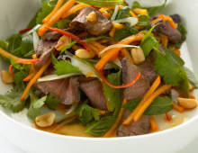 Persimmon Thai Beef Salad